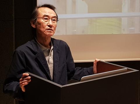 김경훈 한국과학예술융합학회장은 40여 년간의 경험을 풀어놓으며 융합과 소통의 중요성을 강조했다.  ⓒ 김청한 / Sciencetimes