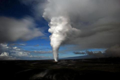 하와이 Kilauea 화산에서 화산가스가 분출되고 있다. ⓒ Public Domain