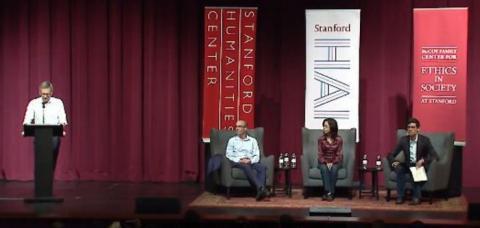 하라리 교수와 리 교수는 인공지능의 미래에 대해 상반된 의견을 제시했다 Ⓒ stanford.edu