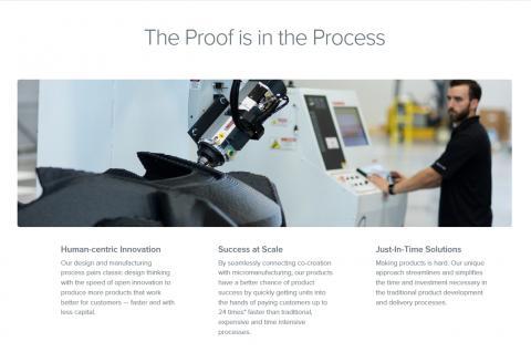 개인 맞춤형 대량 생산을 뜻하는 매스 커스터마이제이션 혁명이 가속화되고 있어 주목을 끈다. 사진은 3D 프린터로 개인 맞춤형 전기자동차를 만들어주는 로컬 모터스의 홈페이지 캡처 화면. ⓒ Local Motors