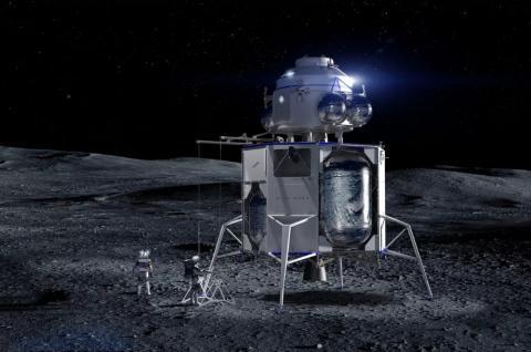 블루문 유인 달 착륙선 콘셉트 이미지 ⓒ블루오리진