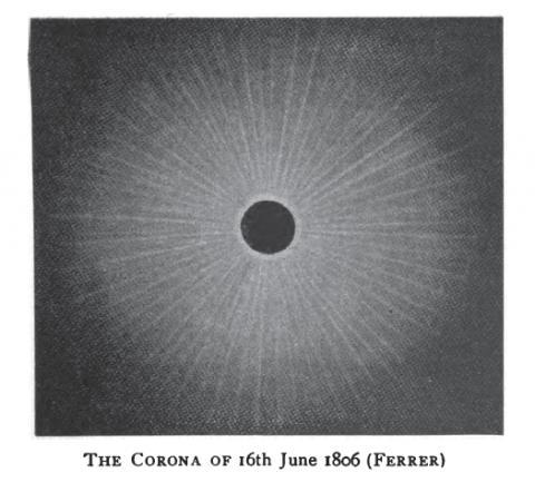 일식 중에 보이는 태양의 코로나. ⓒ 위키백과