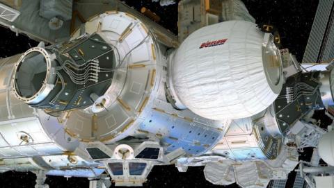 ISS에 설치된 BEAM ©NASA