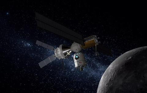 2024년까지 루나 게이트웨이는 아르테미스-3 달 착륙을 위한 최소 모듈만 결합하게 된다. ⓒ록히드마틴