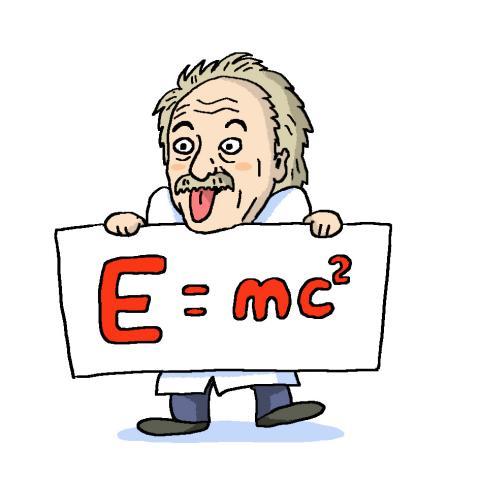 질량과 에너지 사이의 관계를 나타내는 아인슈타인 특수 상대성 이론의 공식 ⓒ윤상석