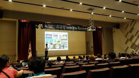 김은혁 박사는 우주개발의 필요성을 역설했다. (c) 강한솔 기자