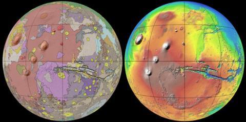 화성의 지질구조ⓒUSGS