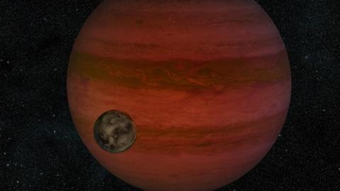 외계행성을 도는 달(위성) 상상도  ⓒNASA/JPL-Caltech