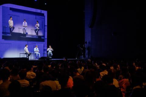 강연 후에는 3명의 교수들이 함께 인류 그리고 인류원리와 과학법칙의 변신에 대해 토론을 진행됐다. ⓒ 카오스재단 제공 / ScienceTimes