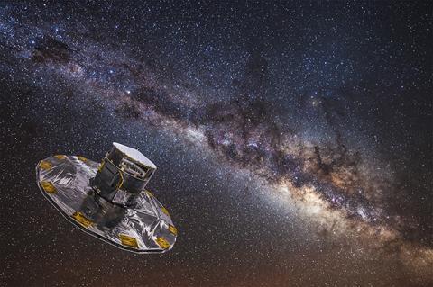 은하수를 맵핑하는 가이아 관측 위성 © ESA/ESO