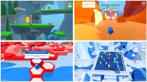 인터랜드의 게임식 교육 장면들 © Google