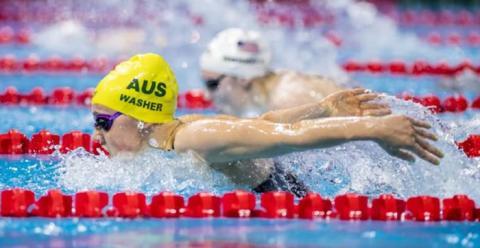 4번 레인을 선호하는 이유는 물의 저항을 최소화할 수 있기 때문이다 ⓒ 광주수영선수권대회
