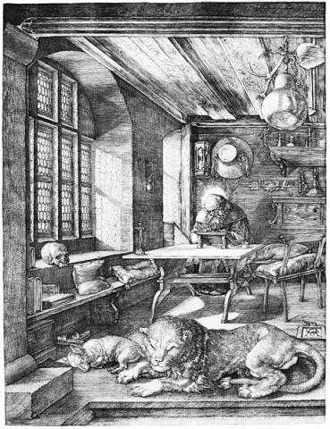 뒤러의 판화 '서재의 성(聖) 히에로니무스(1514)'