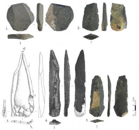 톨보르 유직지에서 발견된 유물. ⓒ Zwyns