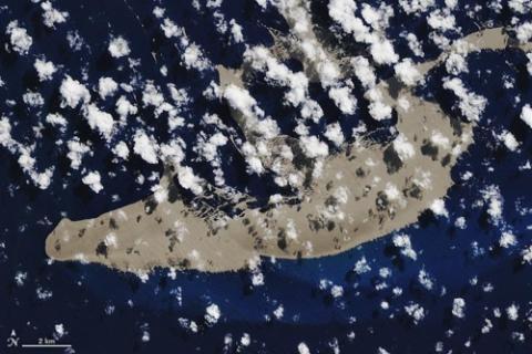위성에서 본 부석 뗏목 이미지