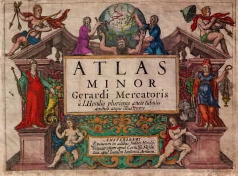메르카토르-혼디우스의 아틀라스 표지(1637년).  ⓒ 위키백과