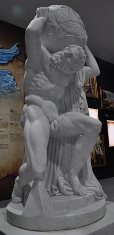 아틀라스. 제주 그리스신화 박물관에서 촬영.
