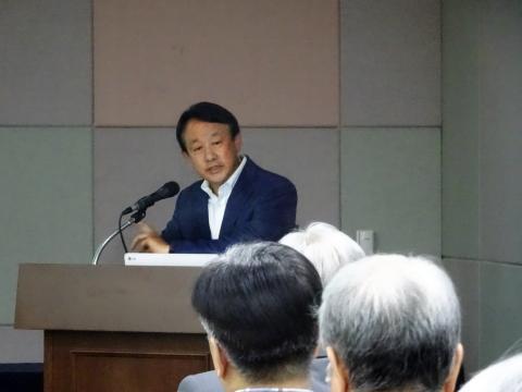 이병건 SCM과학 대표는 미국과 유럽 중심의 바이오헬스 시장을 아시아 중심으로 바꾸는 '바이오 아시아'를 만들자고 제안했다. ⓒ 김은영/ ScienceTimes
