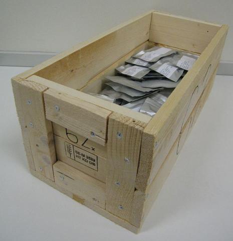 저장고 내 알루미늄백에 저장된 종자들 ⓒ 위키미디어