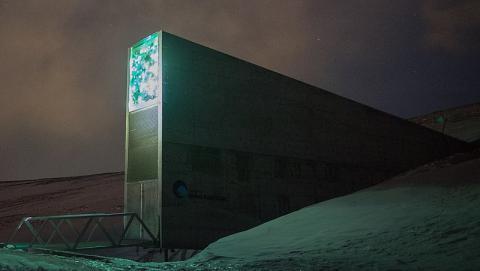 스발바르 국제종자저장고의 아름다운 외관 ⓒ Frode Ramone