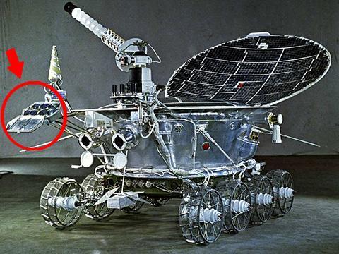 루노호트 1호. 전면에 작은 레이저 반사판이 부착되어 있다. © Roscosmos
