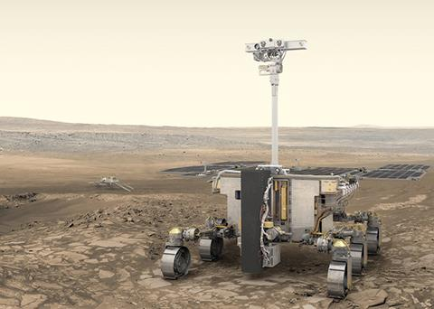 2021년 화성 착륙에 도전할 엑소마스 탐사 로버. © ESA / ATG medialab