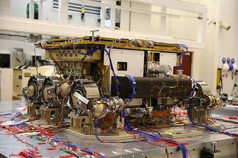 에어버스 D&S에서 제작 중인 '로잘린드 프랭클린' 엑소마스 로버. © Airbus Defense and Space