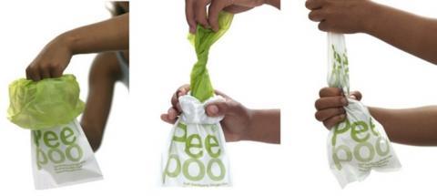 개인용 위생 처리도구인 피부백 사용 개요 Ⓒ peepoo bag
