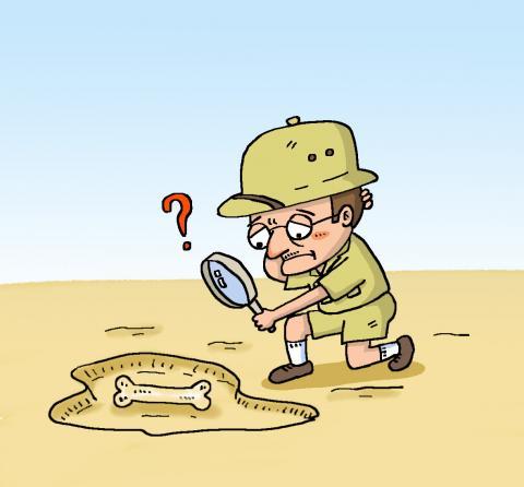 고생물학자들은 화석의 나이를 알아내기 위해 노력한다ⓒ윤상석