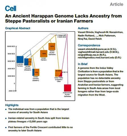 연구의 주요 내용과 그래픽 요약을 수록한 '셀'(Cell) 논문 표지.