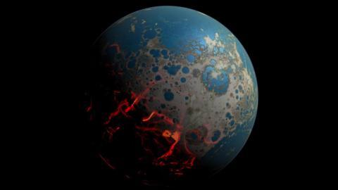 지구 생성 초기 '마그마의 바다' 중심부에서 산소가 대량 유출되면서 지금의 지구핵, 맨틀, 대기권을 형성했다는 연구 결과가 발표됐다. 지구 초기 역사를 쓰는데 큰 영향을 미칠 전망이다. ⓒNASA