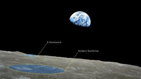 아폴로 8호가 달 궤도를 돌며 지구를 찍은 사진 ⓒ NASA
