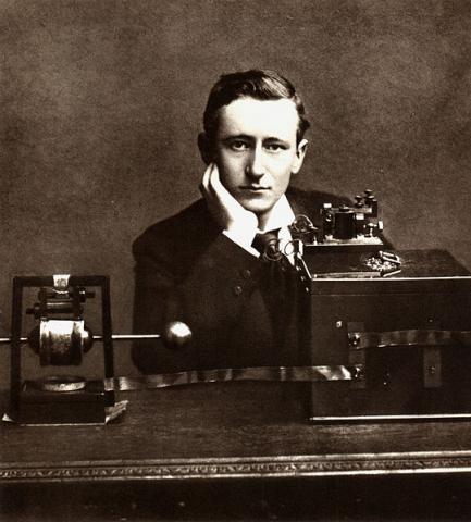 무선전신의 발명으로 노벨물리학상을 받은 마르코니 ⓒ 위키미디어