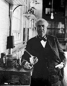 에디슨은 전구의 발명자이자 전기시스템의 설계자이기도 하다 ⓒ 위키미디어