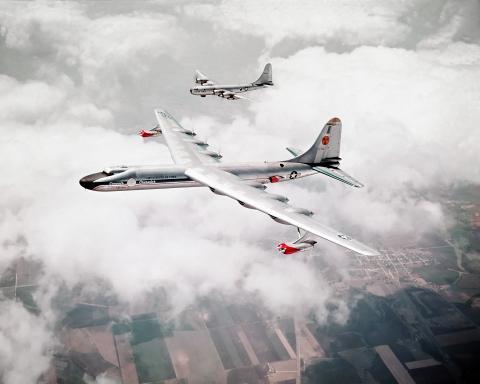 미국의 실험기 NB-36H. ANP 프로그램의 일환으로 원자로를 탑재하고, 항공기용 원자력 추진 체계의 가능성을 실험했다. ⒸWikipedia