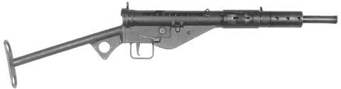 스텐 기관단총. 엄청나게 빠른 생산속도와 저렴한 가격으로 영국의 재무장에 공헌했다. ⒸWikipedia