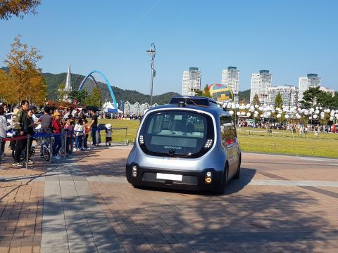 자율주행차 탑승체험이 인기가 높았다. ⓒ 김순강 / ScienceTimes