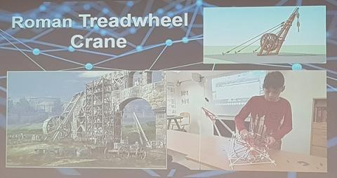'로마시대 쳇바퀴 기중기(Roman Treadwheel Crane)' 제작을 통해 학생들은 역사와 기술의 연결고리를 스스로 발견할 수 있다. ⓒ 김청한 / ScienceTimes