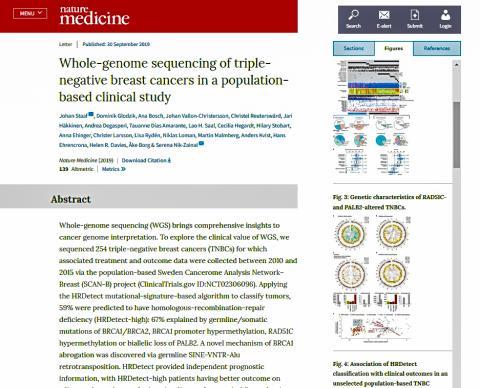 '네이처 메디신'지에 실린 논문 요약과 그래픽 자료.  Credit: Nature Medicine / Springer Nature