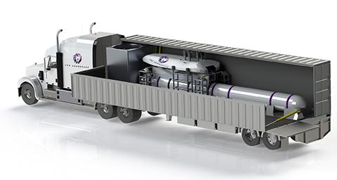 기구 발사 시스템은 트레일러에 탑재해서 이동할 수 있다. © Leo Aerospace
