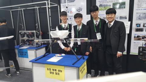 서울국제발명전시회장에서 가온고등학교 학생들이 자신들의 발명품을 소개하고 있다. Ⓒ 김애영/ ScienceTimes