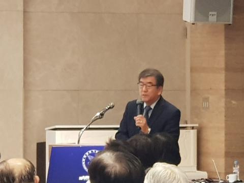 이은규 한양대 명예교수가 '과학기술 석학 지식의 연구사업평가 및 ODA사업 활용방안'에 대해 발표했다.