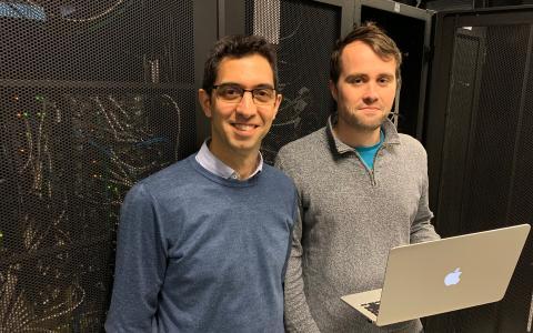 맥스 가르시아-멜코르 교수(왼쪽)와 마이클 크레이그. ⓒ 트리니티 칼리지