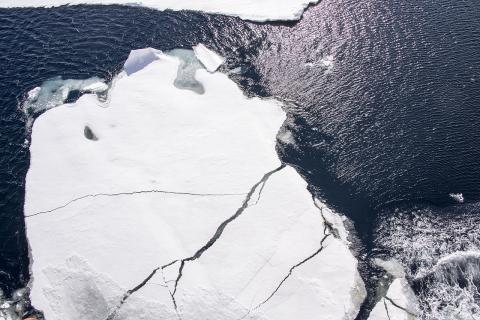 북극 빙산이 녹는 모습.  ⓒ 위키피디아