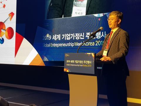 박세진 (주)레고캠 수석부사장은 13년 동안 바이오 벤처 사업을 진행하면서 쌓은 실질적인 노하우를 아낌없이 전수했다. ⓒ 김청한/ScienceTimes
