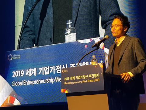 김재현 크레비스파트너스 대표는 임팩트 투자(impact investing)라는 개념을 소개하며 기업가정신이 만들어 가는 미래사회의 긍정적 모습을 조망했다. ⓒ 김청한/ScienceTimes