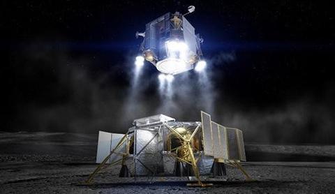 보잉의 달 착륙선 상상도. © Boeing