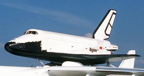 1989년에 공개된 소련의 부란 궤도선.  ⓒ 위키백과