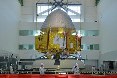 지난 10월 공개한 중국의 화성 탐사선. © CGTN / CASC