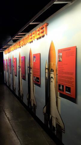 NASA의 우주왕복선 선단(fleet). 뉴욕 인트래피드 박물관.  ⓒ 박지욱